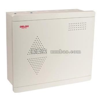德力西电气 光纤终端信息箱;CDEN3 多媒体信息箱 300*350*120 白色不透明们 开孔定制