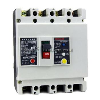德力西电气 塑壳漏电保护;CDM1L-100L/4300A 80A 100-300-500MA 0.4S