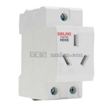 德力西电气 导轨插座;HDXE 插座 二插 10A