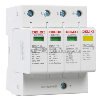 德力西电气 电源电涌保护器;DZ47Y-40/3P+N-440