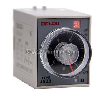 德力西电气 时间继电器;JSZ3R 0.5-6S/60S AC380V