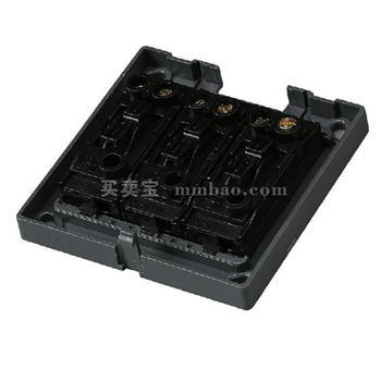 德力西CD130明装开关插座 三联双控开关 三开双控开关