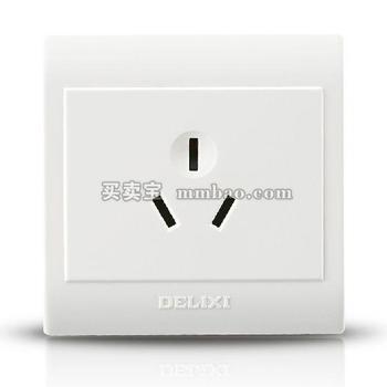 德力西CD130明装开关插座 一位三孔16A空调热水器插座