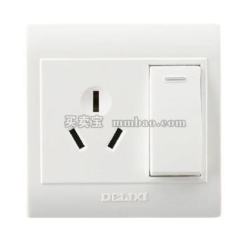 德力西CD130明装开关插座 一开三孔16A 双控 空调热水器插座