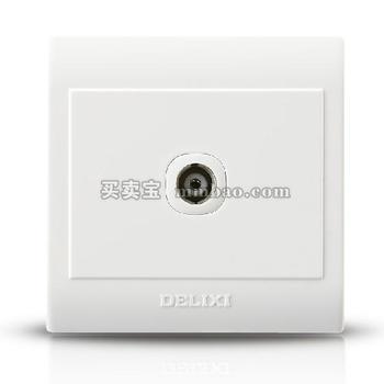 德力西CD130明装开关插座 一位电视插座 视频插座