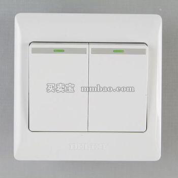 德力西电工 CD200系列DG862K1二位单控荧光大板开关