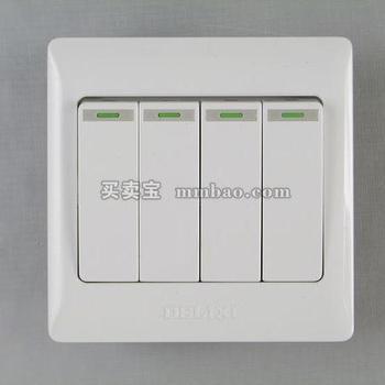 德力西电工 CD200系列DG864K1四位单控荧光大板开关
