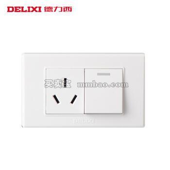 德力西118型墙壁面板 空调插座带开关 一开双控三孔16A电源插座