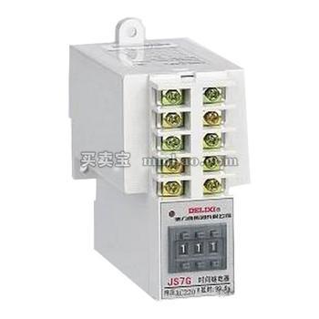 德力西 时间继电器;JS7G-2 0.01-9.99S AC220V