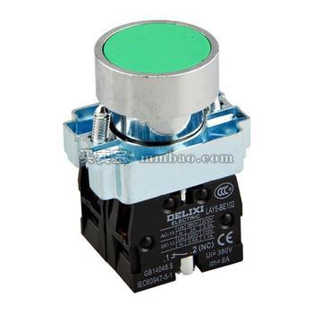 德力西 按钮;LAY5S-BW3 绿 AC 220V 1NC(标准型带灯平钮)