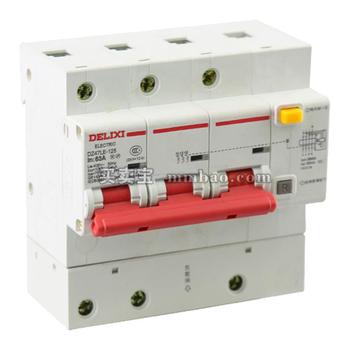 德力西 微断漏电保护;DZ47LE-125 4P LI(C) 100A