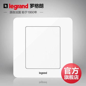 罗格朗开关 插座面板 逸典圆白色 空白面板 墙壁电源 86型