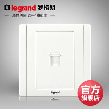 罗格朗开关 插座面板 美涵白色   单电话语音  信号电源  86型  美涵白色