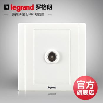 罗格朗开关 插座面板 美涵白色   一位单电视有线电视  信号电源  86型   美涵白色