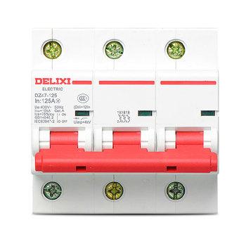 德力西电气 大电流断路器;DZ47-125 C型 3P 100A