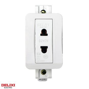 德力西模数化插座 DZ47X210导轨插座 单相两极10A 二插/2孔-10/2