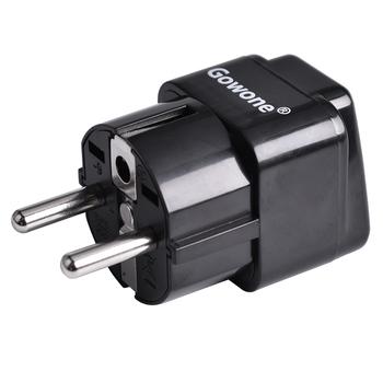 Gowone 购旺 工程级电源标准转换插头便携插座 服务器PDU电源转换器 机房电工配件 欧标转10A万用孔
