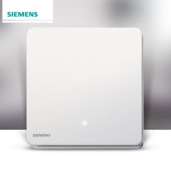 西门子开关插座面板 睿致炫白系列 一开双控带LED指示