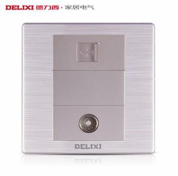 德力西电工 CD860系列 二位电脑电视插座