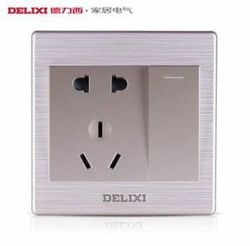 德力西电工 CD860系列 五孔10A带双控插座
