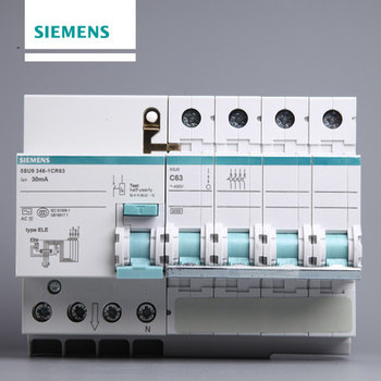 西门子 微断漏电保护 4P63A 5SU93461CR63