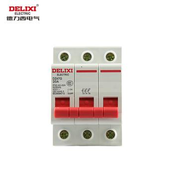 德力西电气 微型断路器(小型断路器);DZ47G 3P 40A