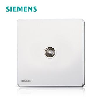 西门子开关插座面板 睿致钛银系列 一位有线电视插座
