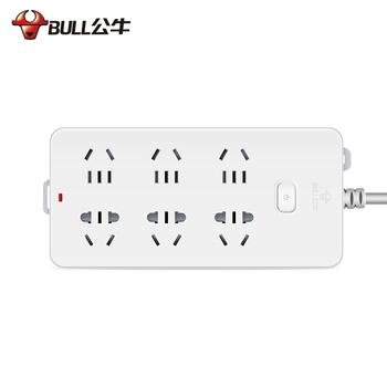 公牛插座排插接线板插线板长线6插位家用GN-109K