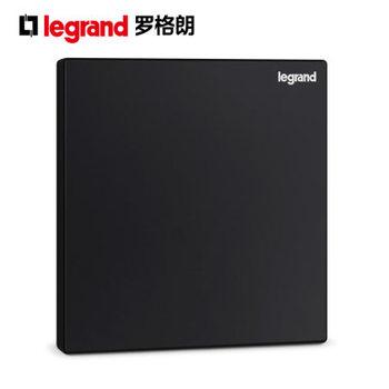 TCL罗格朗开关插座逸景碳素黑空白面板86型电源插座面板