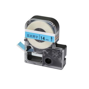 威码(VariMark)14mm覆膜聚酯标准标签带 14MBK