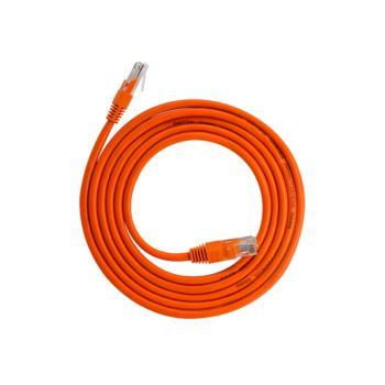 礼嘉 LJ-5200 超五类非屏蔽无氧铜网线跳线 橙色 20米
