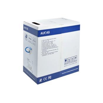 台湾奥卡斯(AUCAS)六类非屏蔽无氧铜双绞线缆蓝色 305米/箱 AC61UPBU