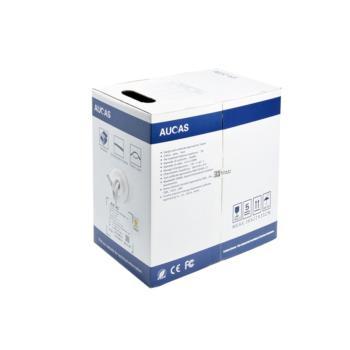 台湾奥卡斯(AUCAS)超五类非屏蔽无氧铜双绞线白色 305米/箱 AC51UPWH