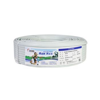 远东电线电缆 BVVB 2*2.5平方硬护套白色 100米/卷