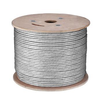 普澳凡(PROUVON)六类4对非屏蔽双绞线数据线缆国际标准0.575芯径 灰色 305m/箱