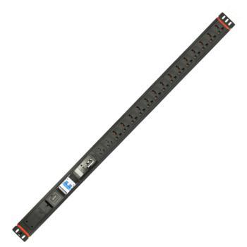 奥盛(Aosens) 1.5U16位智能电源插座RS485串口监测PDU防雷闪烁报警 国标 多功能孔
