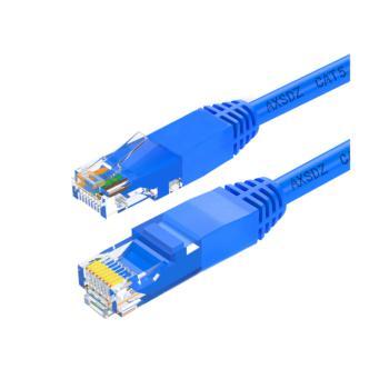 安讯仕(AXS)超五类非屏蔽UTP网络跳线 CAT5e网线圆线 3M 蓝色