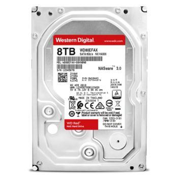 西部数据(WD)WD80EFAX 红盘8TB SATA 6Gb/s NAS硬盘
