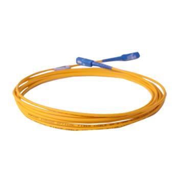 庆兴 SC-LC单模单芯电线级光纤跳线 黄色 5m