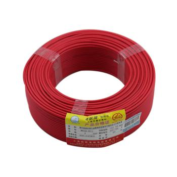 起帆 BV2.5 单芯布电线 红色 100米/卷