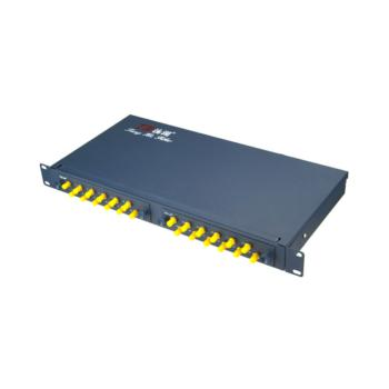 汤湖 TH-24ST+ 电信级 24口ST加厚光纤终网线端盒 配满 蓝色