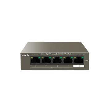 腾达(Tenda)TEG1105P-4-63W 5口千兆4口PoE供电交换机