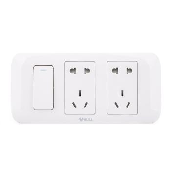 公牛双控电源墙壁卧室专用插座面板 G10E606