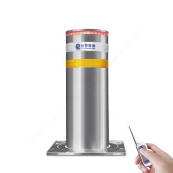 派罗股份 PL-QY219-800 不锈钢气动全自动升降柱路障升降地桩 学校遥控路桩防撞柱