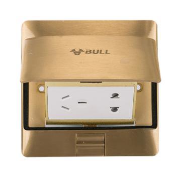 公牛(BULL)五孔地插黃銅防水地插 防水阻尼式緩沖液壓地插座 GD5Z223