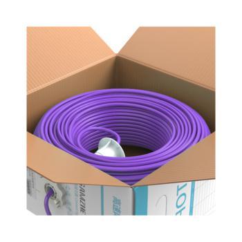 山泽(SAMZHE)超五类非屏蔽低烟无卤阻燃防鼠蚁网线 SZ-G5100 紫色 100米/箱
