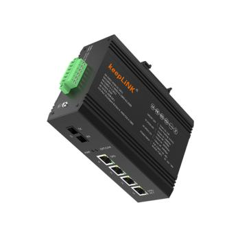 keepLINK KP-9000-65-1FX4TP-SC20A 百兆一光四电POE工业级交换机