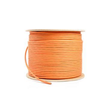 臺灣奧卡斯(AUCAS)七類萬兆雙屏蔽線纜橙色 305米/盤 AC71SFOR