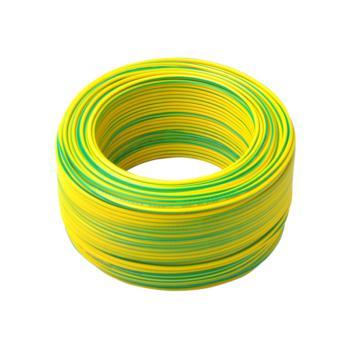 起帆 BVR25 铜芯聚氯乙烯绝缘软电缆 黄绿 100米/卷