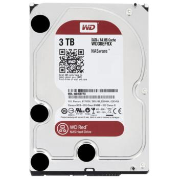 西部数据(WD)WD30EFRX 红盘3TB SATA 6Gb/s 64MB NAS硬盘